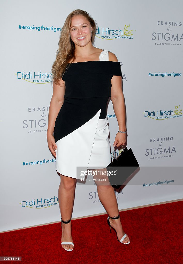 Ronda Rousey attends the 20th anniversary of 'Erasing The Stigma Leadership Awards' at The Beverly Hilton Hotel on April 28, 2016 in Beverly Hills, California.
