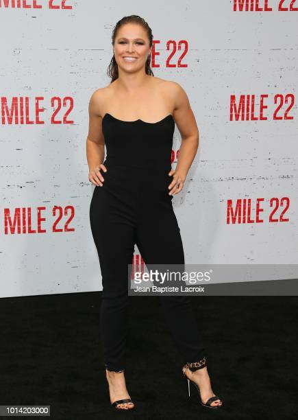 Ronda Rousey attends the premiere of STX Films' 'Mile 22 at Westwood Village Theatre on August 9 2018 in Westwood California