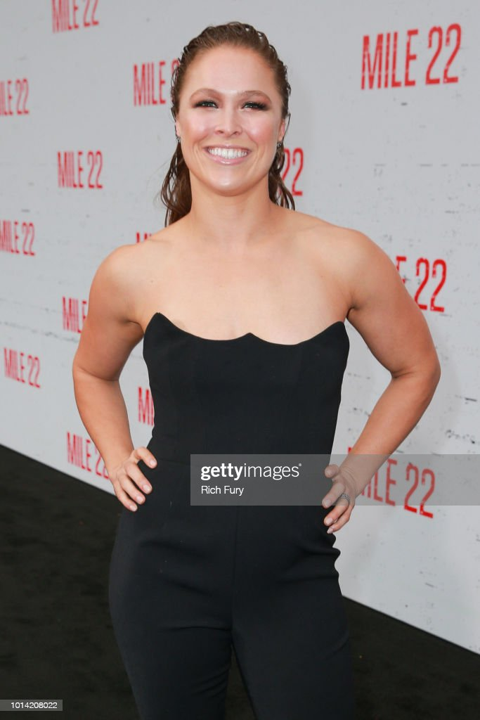 Ronda Rousey attends the premiere of STX Films' 'Mile 22' at Westwood Village Theatre on August 9, 2018 in Westwood, California.