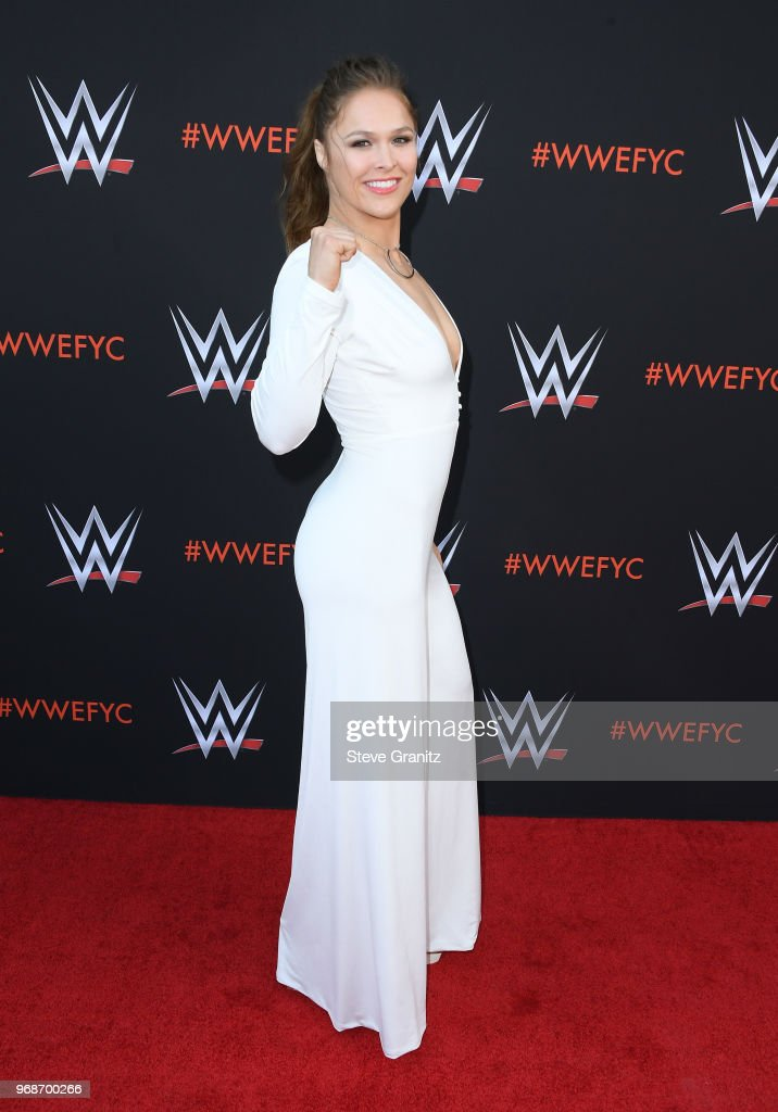 Ronda Rousey attends WWE's first-ever Emmy 'For Your Consideration' event at Saban Media Center on June 6, 2018 in North Hollywood, California.