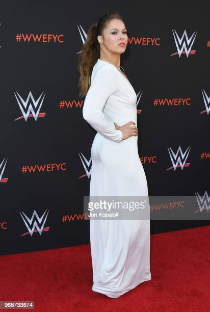 Ronda Rousey attends WWE's FirstEver Emmy For Your Consideration Event at Saban Media Center on June 6 2018 in North Hollywood California