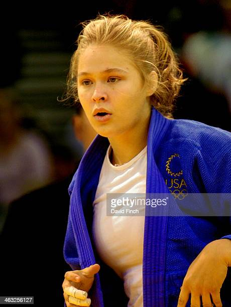 Ronda Rousey of the USA defeated Irina Gromova of Russia to reach the u63kg final where she won the gold medal on day 3 of the Budapest Junior World...