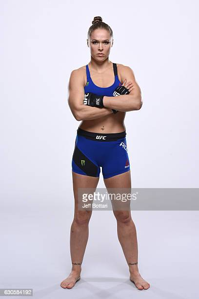 Ronda Rousey poses for a portrait during a UFC photo session inside the MGM Grand Conference Center on December 26 2016 in Las Vegas Nevada