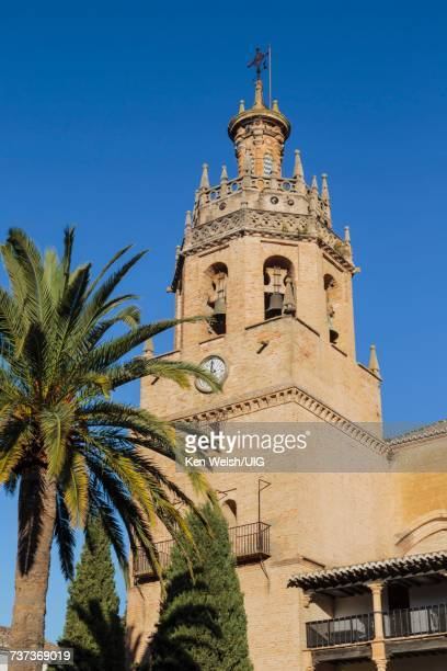 ronda, spain. santa maria la mayor. - duquesa stock photos and pictures