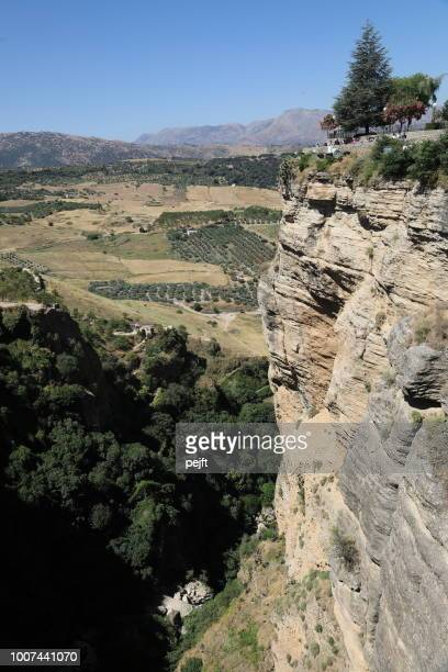 ronda the chasm - pejft stock pictures, royalty-free photos & images