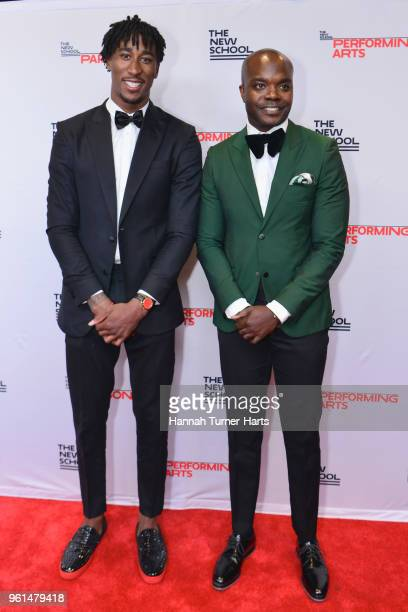 Rondae HollisJefferson and Good Counsel Agency founder Rudy ClineThomas attend the 70th Annual Parsons Benefit at Pier Sixty at Chelsea Piers on May...