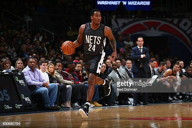 Rondae HollisJefferson of the Brooklyn Nets handles the ball against the Washington Wizards December 30 2016 at Verizon Center in Washington DC NOTE...