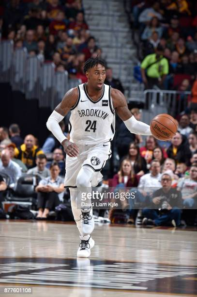 Rondae HollisJefferson of the Brooklyn Nets handles the ball against the Cleveland Cavaliers on November 22 2017 at Quicken Loans Arena in Cleveland...