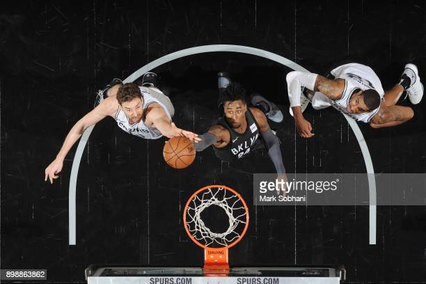 Rondae HollisJefferson of the Brooklyn Nets handles the ball against the San Antonio Spurs on December 26 2017 at the ATT Center in San Antonio Texas...