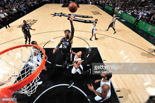 Rondae HollisJefferson of the Brooklyn Nets shoots the ball against the San Antonio Spurs on December 26 2017 at the ATT Center in San Antonio Texas...