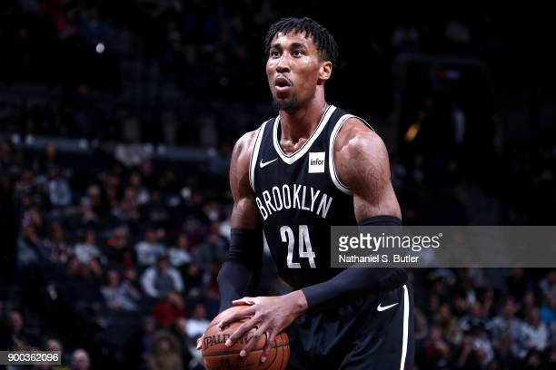 Rondae HollisJefferson of the Brooklyn Nets shoots the ball against the Orlando Magic on January 1 2018 at Barclays Center in Brooklyn New York NOTE...