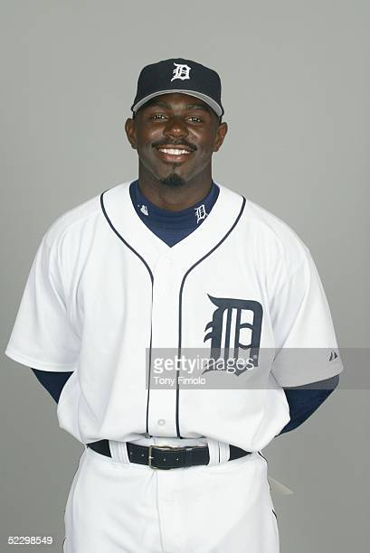 Rondell White of the Detroit Tigers poses for a portrait during photo day at Marchant Stadium on February 27 2005 in Lakeland Florida