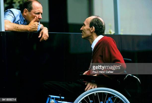 RonDennis Frank Williams Grand Prix of France Circuit de Nevers MagnyCours 28 June 1998 Conversation between Rion Dennis and Frank Williams