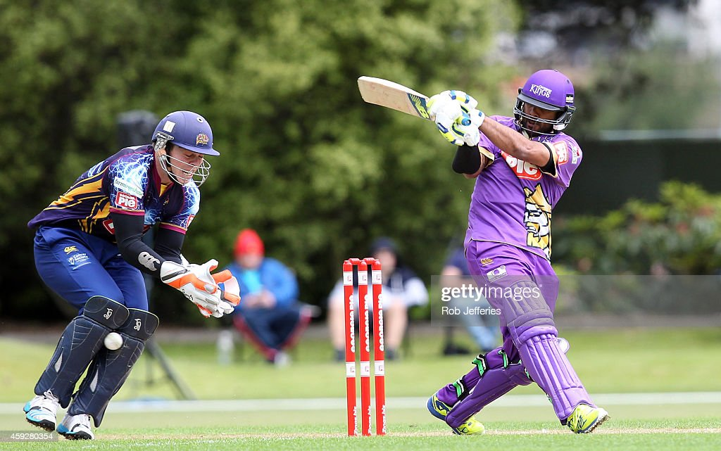 Roneel Hira of Canterbury bats during the Georgie Pie Super Smash T20 match between the Otago Volts and the Canterbury Kings at University Oval on November 20, 2014 in Dunedin, New Zealand.