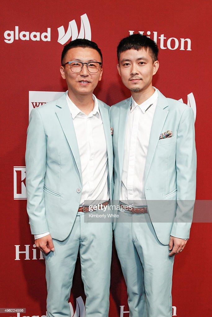 Rongfeng Duan (L) and Tao Li at the GLAAD Gala at the Hilton San Francisco on November 7, 2015 in San Francisco, California.