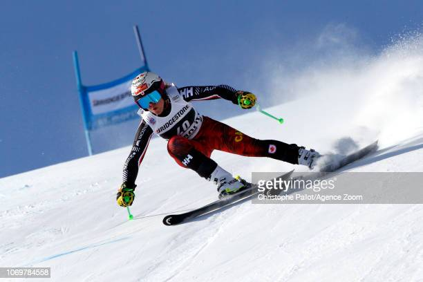 Roni Remme of Canada in action during the Audi FIS Alpine Ski World Cup Women's Super G on December 8 2018 in St Moritz Switzerland