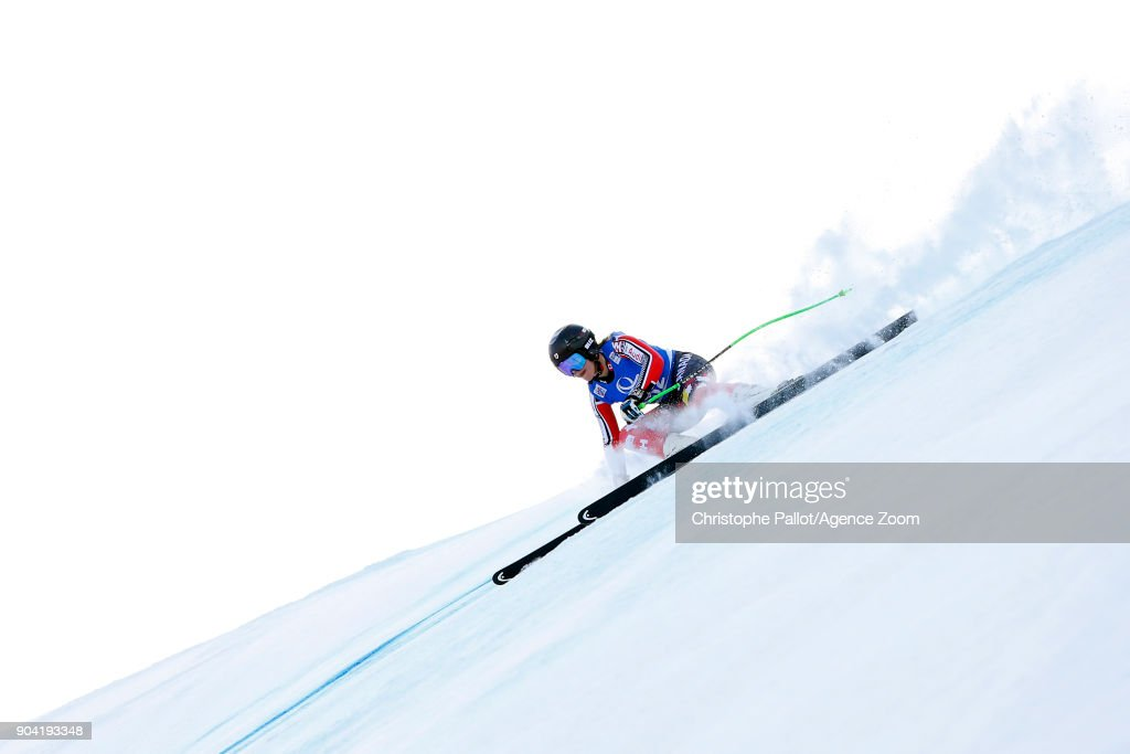 Roni Remme of Canada in action during the Audi FIS Alpine Ski World Cup Women's Downhill Training on January 12, 2018 in Bad Kleinkirchheim, Austria.