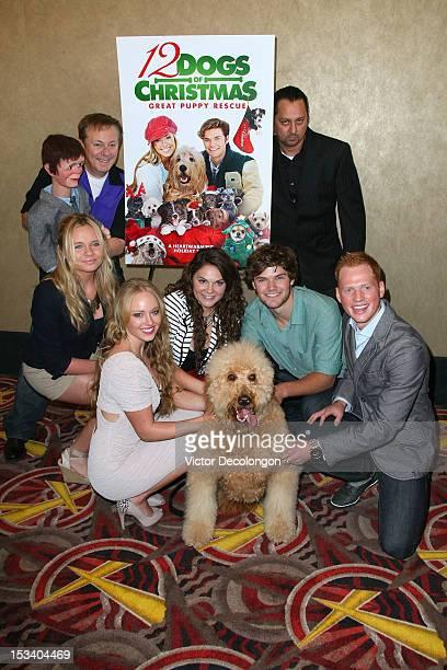 Ronn Lucas Alli Simpson Danielle Chuchran Alisha Mullally James Gaisford Carlos Cabarcas and Skyler Holman arrive for the sneak preview of 12 Dogs Of...