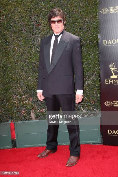 Ronn Moss attends the 45th annual Daytime Emmy Awards at Pasadena Civic Auditorium on April 29 2018 in Pasadena California