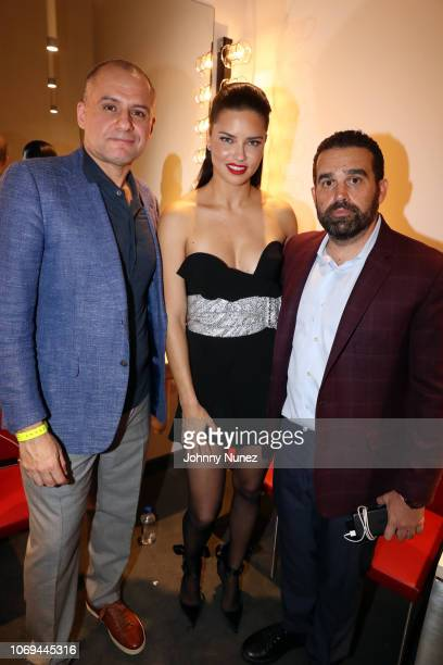 Ronn Torossian Adriana Lima and Seth Semilof attend Bacardi No Commission Marquee Musical Performance Hosted By Swizz Beatz at Faena Forum on...