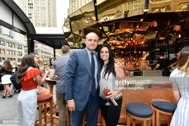 Ronn Torossian and 5WPR staff attend the 5W Summer Party at Magic Hour Rooftop Bar and Lounge at Moxy Times Square at Magic Hour Rooftop Bar Lounge...