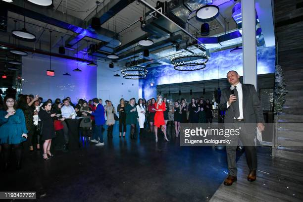 Ronn Torossian and 5WPR staff attend the 5WPR 2019 Holiday Party at The Mezzanine on December 11 2019 in New York City