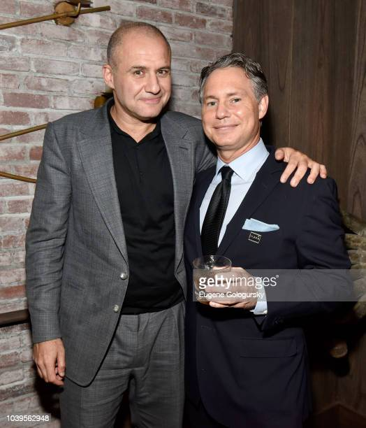 Ronn Torossian and CEO and Founder DuJour Jason Binn attend the DuJour Fall issue cover party with Mandy Moore at TAO Downtown on September 24 2018...