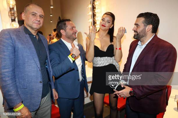 Ronn Torossian Julien Tornare Adriana Lima and Seth Semilof attend Bacardi No Commission Marquee Musical Performance Hosted By Swizz Beatz at Faena...