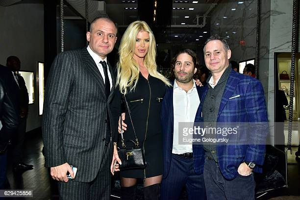 Ronn Torossian, Victoria Silvstedt, Mike Heller, and Jason Binn attend the JetSmarter x Material Good VIP Event Hosted By Talent Resources at...