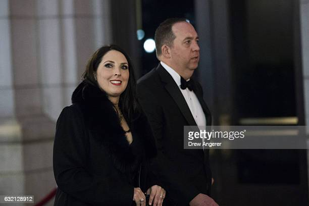 Ronna Romney McDaniel unanimously elected on Thursday as the chair of the Republican National Committee arrives at Union Station for a dinner for...