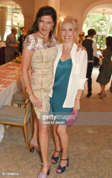 Ronni Ancona and Amelia Bullmore attend The South Bank Sky Arts Awards drinks reception at The Savoy Hotel on July 9 2017 in London England
