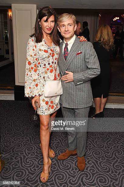 Ronni Ancona and Martin Freeman attend the The South Bank Sky Arts Awards airing on Wednesday 8th June on Sky Arts at The Savoy Hotel on June 5 2016...