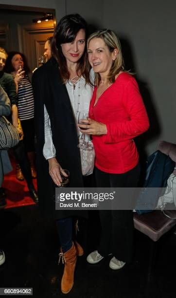 Ronni Ancona and Penny Smith attend the press night performance of David Baddiel My Family Not The Sitcom at the Playhouse Theatre on March 30 2017...