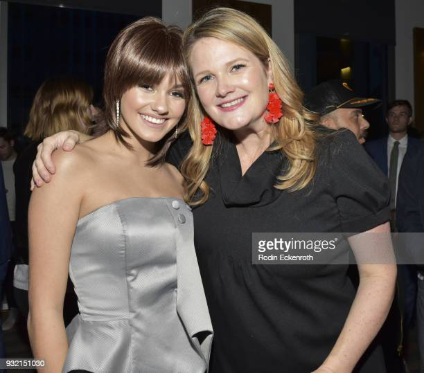 Ronni Hawk and Lauren Iugerich pose for portrait at the premiere of Netflix's 'On My Block' at NETFLIX on March 14 2018 in Los Angeles California