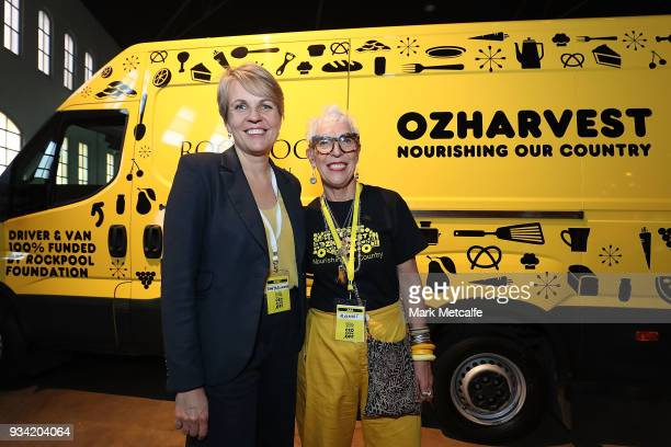 Ronni Kahn CEO and founder of OzHarvest poses with Deputy Leader of the Opposition Tanya Plibersek during the Oz Harvest CEO Cookoff on March 19 2018...