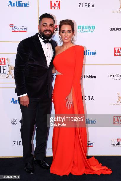 Ronnie and Georgia Caceres arrive at the 60th Annual Logie Awards at The Star Gold Coast on July 1 2018 in Gold Coast Australia