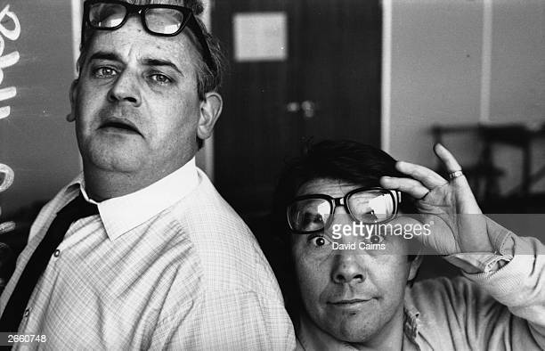 Ronnie Barker and Ronnie Corbett, stars of the television comedy show 'The Two Ronnies'.