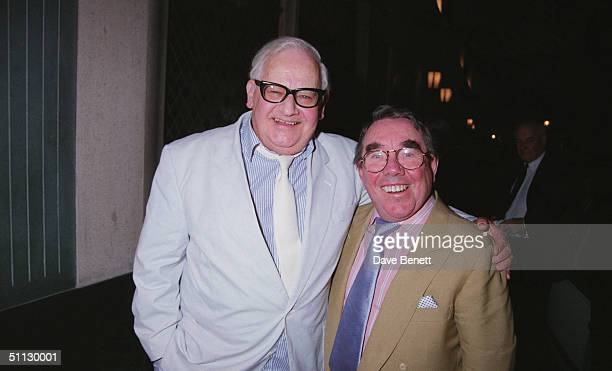 Ronnie Barker and Ronnie Corbett, stars of the television comedy show 'The Two Ronnies', 21st September 1994.