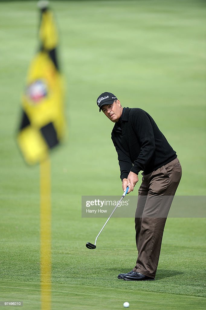 Ronnie Black putts on the fifth hole during the second round of the Toshiba Classic at the Newport Beach Country Club on March 6, 2010 in Newport Beach, California.