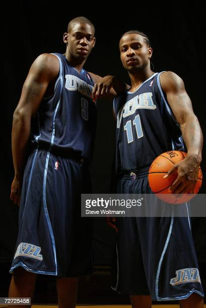 Ronnie Brewer and Dee Brown of the Utah Jazz pose for a portrait on September 14 2006 at the IBM Palisades Executive Conference Center in Palisades...