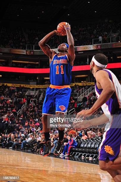 Ronnie Brewer of the New York Knicks takes a shot against the Phoenix Suns on December 26 2012 at US Airways Center in Phoenix Arizona NOTE TO USER...