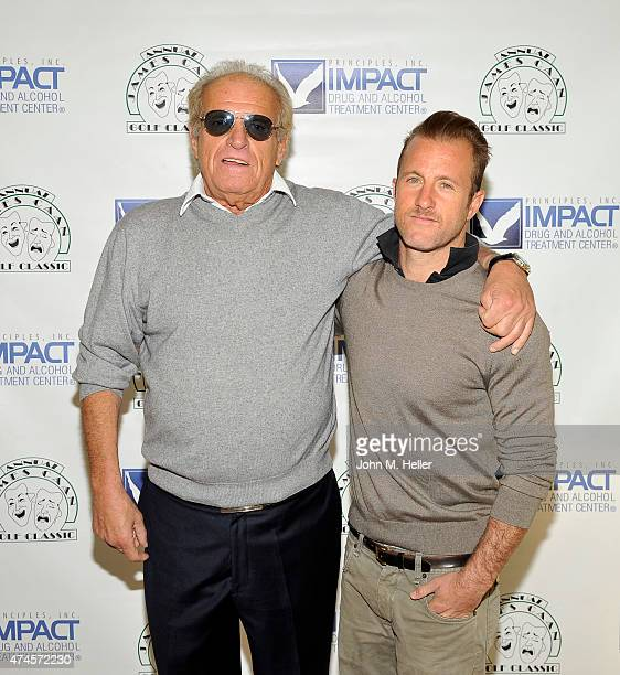 Ronnie Caan and actor Scott Caan attend the 12th Annual James Caan Celebrity Golf Classic at El Caballero Country Club on May 11 2015 in Tarzana...
