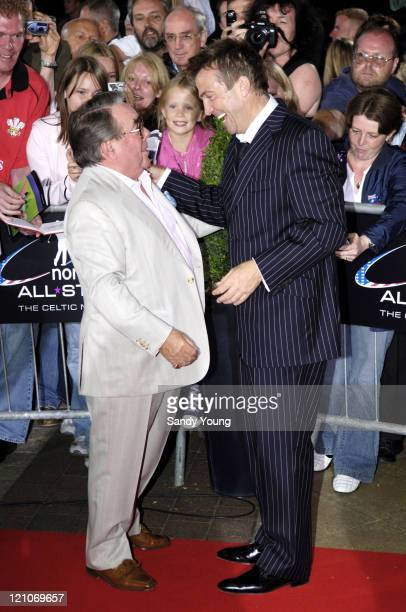 Ronnie Corbett and Bradley Walsh during The Northern Rock All Star Charity Gala Red Carpet at Celtic Manor Resort in Newport Great Britain