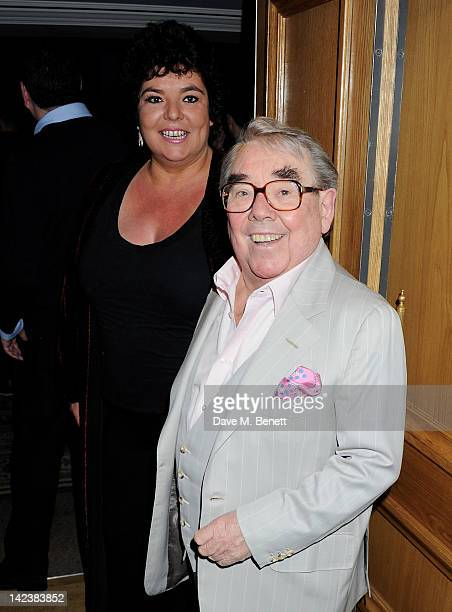 Ronnie Corbett and daughter Emma attend an after party celebrating the press night performance of 'Noises Off' as it transfers to the Novello Theatre...