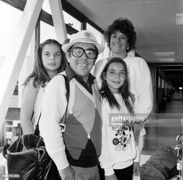 Ronnie Corbett and his wife Anne with children Emma, 13 and Sophie 11 arriving at Heathrow Airport from Los Angeles. 8th April 1980.