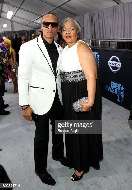 Ronnie Devoe and Flo Devoe at the 2017 BET Awards at Staples Center on June 25 2017 in Los Angeles California