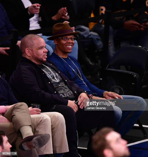 Ronnie DeVoe attends New York Knicks Vs Philadelphia 76ers game at Madison Square Garden on March 15 2018 in New York City