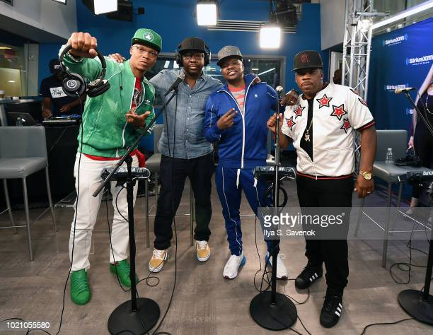 Ronnie DeVoe Bobby Brown Ricky Bell and Michael Bivins of RBRM Perform on SiriusXM's Heart Soul Channel At The SiriusXM Studios in New York City at...