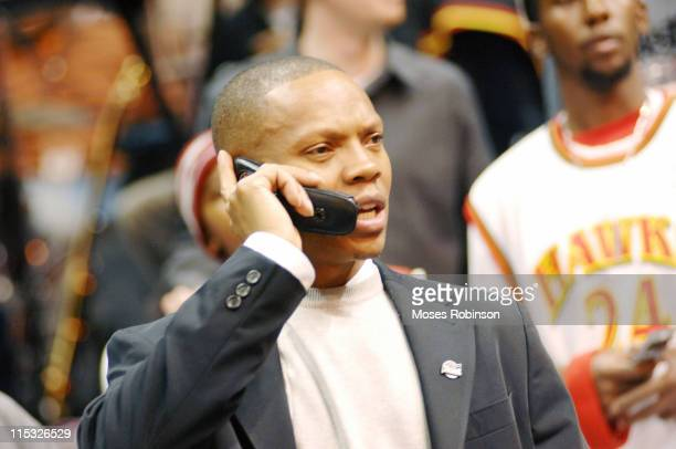Ronnie DeVoe member of New Edition during Celebrity Sightings at Atlanta Hawks vs Seattle Supersonics November 11 2006 at Philips Arena in Atlanta...