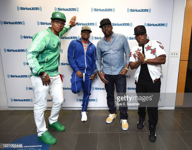 Ronnie DeVoe Ricky Bell Bobby Brown and Michael Bivins of RBRM Perform on SiriusXM's Heart Soul Channel At The SiriusXM Studios in New York City at...